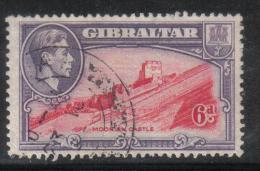 W2373 - GIBILTERRA 1938 , GIORGIO VI : 6 Pence N. 109A Dentellato 13 1/2  Usato - Gibilterra