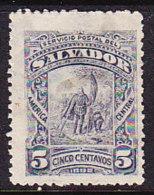 El Salvador 1892 Columbus - 5c Slate - Mint - El Salvador