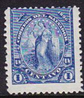 El Salvador 1896 Issues - 1c. Blue - Mint - El Salvador