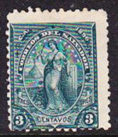 El Salvador 1896 Issues - 3c. Green - Mint - El Salvador
