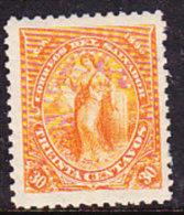 El Salvador 1896 Issues - 30c. Orange  - Mint - El Salvador