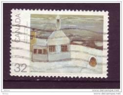 Canada, Peinture, église, Church, Painting, Cloche, Bell - Chiese E Cattedrali