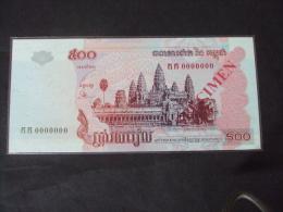 Cambodia Cambodge 500 Riels UNC Specimen Banknote 2002 - P#P54a - Cambodia