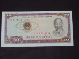 Vietnam Viet Nam 30 Dong UNC Banknote / Billet 1981 -P#87a - Vietnam