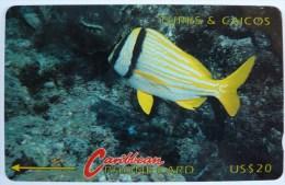 TURKS & CAICOS - GPT - 1CTCD - $20 - T&C-1D - Mint