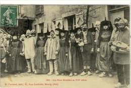 Carte Postale Ancienne Bresse - Une Noce Bressanne Au XIXe Siècle - Costume Folklorique, Mariage, Musique, Vielle - France