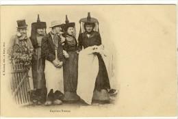 Carte Postale Ancienne Bresse - Baptême Bressan - Costume Folklorique, Religion - Autres Communes