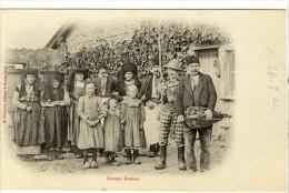Carte Postale Ancienne Bresse - Groupe Bressan - Costume Folklorique, Musique, Vielle - Francia