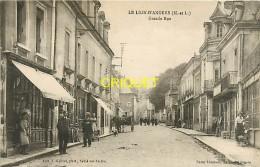 Cpa 49 Le Lion D'Angers, Grande Rue, Animation Devant Vieux Commerces, Charrette Attelée... - France