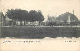 Malines - Vue de la Gare prise du Canal