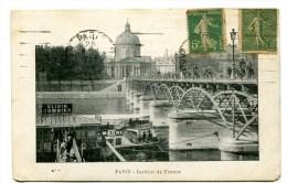 CPA  75  :   PARIS   Pont Et Institut De France Et Pub  Elixir Combier   VOIR  DESCRIPTIF   §§§ - France