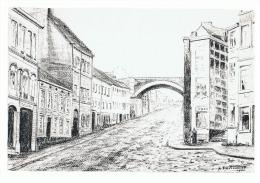 COPIE D'un Dessin Au Crayon De R. Fauconnier 1986 - DISON  (b80) - Lithographies