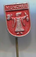 MUNCHEN - Germany, Blason, Coat Of Arms, Vintage Pin Badge - Cities
