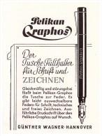 Original Werbung - 1941 , PELIKAN Graphos , Füllfederhalter , Füller !!! - Schreibgerät