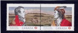 CANADA, 2012, The War Of 1812,   Se Tenant Pair MNH  2555a - 1952-.... Règne D'Elizabeth II