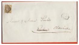 ## FRANCE ## N°1 SUR IMPRIME DU 5 JUIN 1951 ## DE NERAC POUR CLAIRAC## - 1849-1876: Periodo Classico