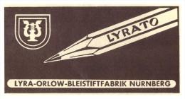 Original Werbung - 1941 - Lyrato , Lyra-Orlow-Bleistiftfabrik In Nürnberg , Bleistift !!! - Schreibgerät
