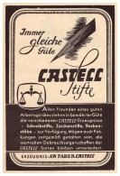 Original Werbung - 1941 - Faber Castell Stifte , A.W. Faber , Bleistift !!! - Schreibgerät