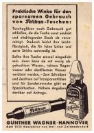 Original Werbung - 1941 - PELIKAN Tusche , Perl-Tusche , Günther Wagner In Hannover !!! - Tintenfässer