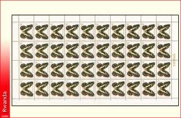 Rwanda 0909** 20c Papillon -MNH- Feuille / Sheet de 40