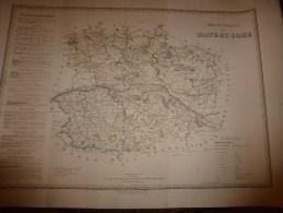 1836 Carte Atlas Départemental De La France  (MAINE Et LOIRE) Par Dufour,   Chez Basset (Paris) - Geographical Maps