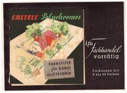 Original Werbung - 1941 - FABER CASTELL , Mit Farbiger Klappkarte , Polychromos !!! - Schreibgerät