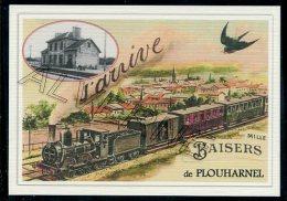 56  PLOUHARNEL  ....  TRAIN  ..souvenir Au Fusain Creation Moderne Série  Numerotée 1 à 10 ... N° 2/10 - Altri Comuni