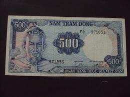 South Viet Nam Vietnam 500 Dong Tran Hung Dao VF Banknote 1966 - P#23 / 02 Images - Vietnam
