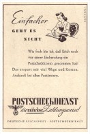 Original Werbung - 1941 - Postscheck-Dienst , Deutsche Reichspost , Scheck , Check , Post !!! - Sonstige