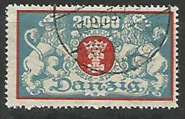 DANTZIG - YVERT N� 131 OBL TTB
