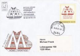 1307q: Personalisierte Marke Aus Österreich: Möbel Matejka, Gest. 04.04.05 Postpartner 2484 Weigelsdorf/ Fischa - Österreich