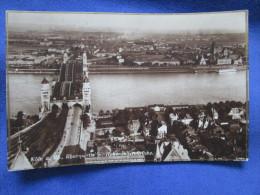 Koln A. Rh., Rheinpartie M. Hohenzollernbrucke. Schroder 508. Voyage 1927. - Koeln