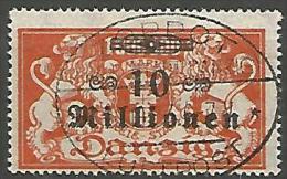 DANTZIG - YVERT N� 160 OBL TTB