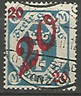 DANTZIG - YVERT N� 138 OBL TTB