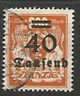 DANTZIG - YVERT N� 141 OBL TTB