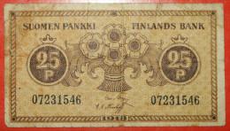 ★ NO ATTRIBUTES OF RUSSIA ★ FINLAND 25 PENNI 1918! LOW START ★ NO RESERVE! - Finland