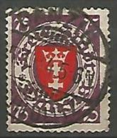 DANTZIG - YVERT N� 185 OBL TTB