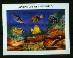 Tanzania 1998,9V In Sheetlet,fish,vissen,fische,poissons,peche,peces,pesce,MNH/Postfris,(L1545) - Poissons