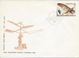 Varsovie 15 04 1978 Premier Vol 1896 Tanski Avion Aviation Oblitération Illustrée - FDC