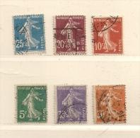 FRANCE ( F00 - 57 )  1907  N° YVERT ET TELLIER  N° 137/142 - France