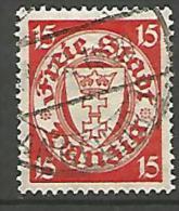 DANTZIG - YVERT N� 179A OBL TTB