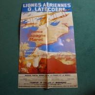 AFFICHE LIGNES AERIENNES G. LATECOERE 67 x 42 cm - REEDITION - TRES BON ETAT