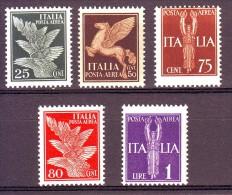 REGNO POSTA AEREA 1930-32 N. 10-14   NUOVO** 5 VALORI - Poste Aérienne