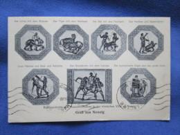 Verwalter Und Aufseher Heinrich Gette Nennig. Bildausschnitte Des Mosaikfussbodens. Greineisen 76. Voyage 1937. - Perl