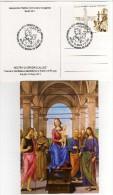 """Italia 2014 Annullo Senigallia Restauro Dipinto """"Madonna Col Bambino"""" Del Perugino Special Card - Paintings"""