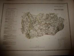 1856 Grde Carte Ancienne Réhaussée Couleurs :par A H Dufour ,  Département De La  MEURTHE  Avec Notices Hist. Et Stat. - Geographical Maps