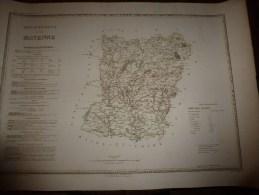 1836 Grde Carte Ancienne Réhaussée Couleurs :par A H Dufour ,  Département De La  MAYENNE  Avec Notices Hist. Et Stat. - Geographical Maps
