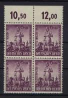 Deutsches Reich Michel No. 819 ** postfrisch Viererblock