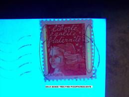 2000 N° 3083 TVP ROUGE  PHOSPHORESCENTE OBLITERE  DESCRIPTION - Errors & Oddities