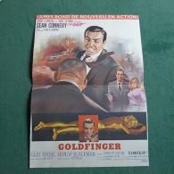 AFFICHE CINEMA GOLDFINGER JAMES BOND 42 x 30 cm - REEDITION - TRES BON ETAT